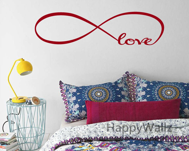Infinity Love Quote Wall Sticker Infinity Love Wall Quotes Decal DIY  Decorative Infinity Quotes Vinyl Wall