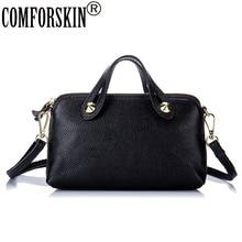 COMFORSKIN European And American Women Handbags Premium 100% Cowhide Leather Practical Messenger Bags Hot Brand Shoulder Bags comforskin brand premium 100
