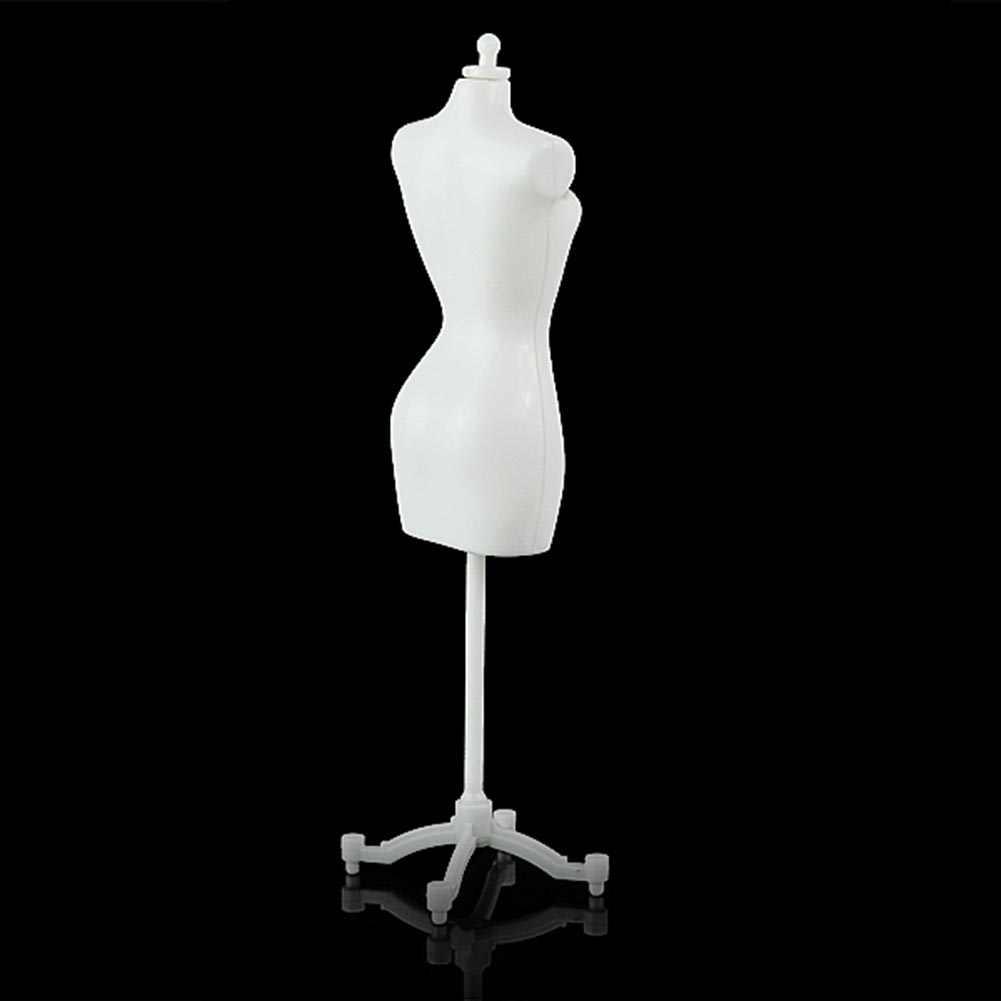 1 sztuk sukienka dla lalek tkaniny suknia z tworzywa sztucznego demontowalny wyświetlacz uchwyt podporowy Model manekina stojak akcesoria do sukienka dla lalek