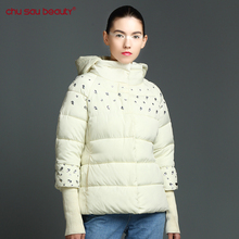 ChuSauBeauty  Top Fashion 2017 New Winter Jacket Women Hooded Thicken Coat Female Fashion Warm Outwear Single Breasted Parka
