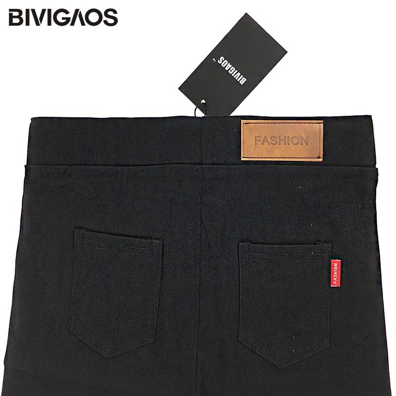 BIVIGAOS Ženska moda Kožna krpa Tkanina Povremene hlače Tanke - Ženska odjeća - Foto 6