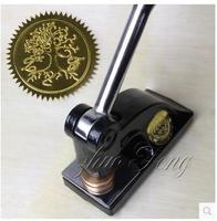 Customized Logo Big Desk Heavy Embossing Seal Stamp Customize Personalized Diy Embosser Letter Wedding Envelope Gaufrage