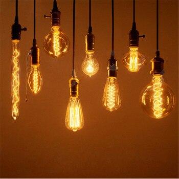 CLAITE-bombilla Vintage Edison E27, lámpara Retro de 220V, 40W, 60W, incandescente, filamento