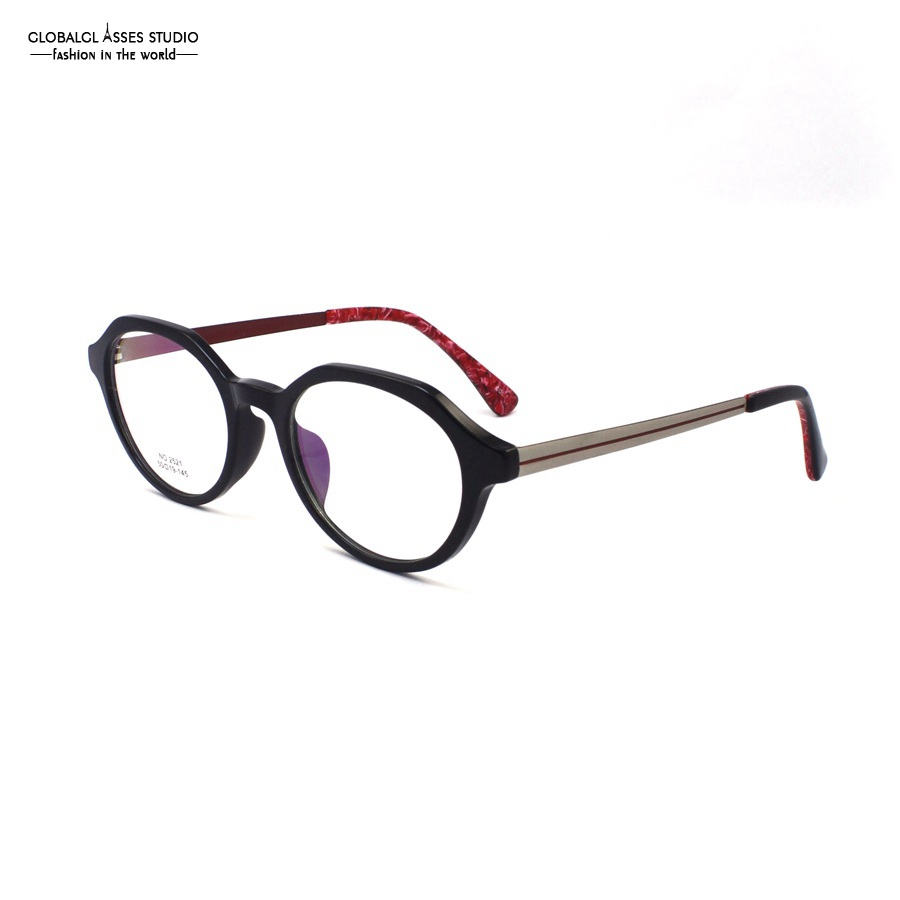 ᗗModa diseñado ronda gafas Gafas TR 90 flexible súper ligero óptico ...