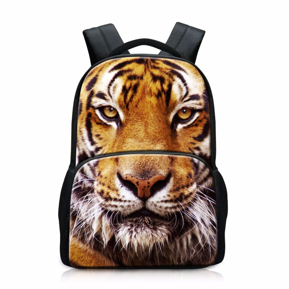 Large Capacity School Backpacks for Boys Animal Felt Back Pack Cool Tiger Printing Schoolbags Big Bookbags for Teenagers Girls