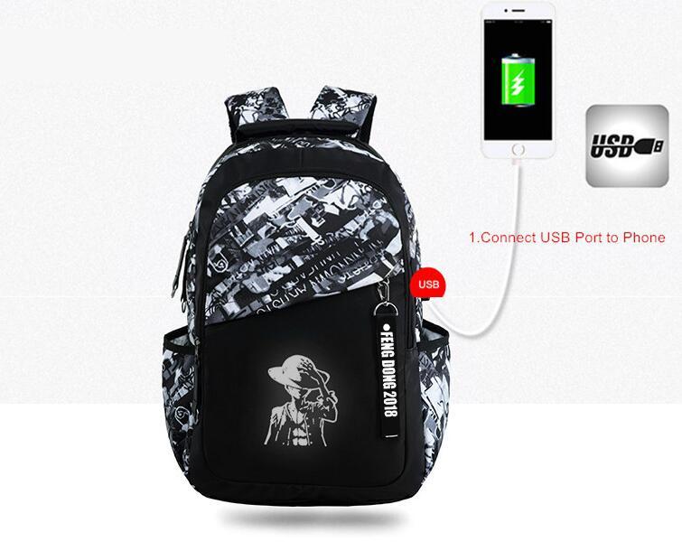mochila do ensino médio para o estudante
