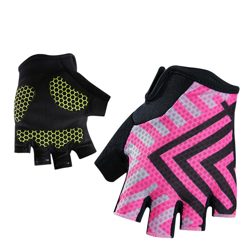 Q368 Cycling font b Gloves b font Mountain Road Bicycle Shockproof Breathable Sleeveless Pink Women s