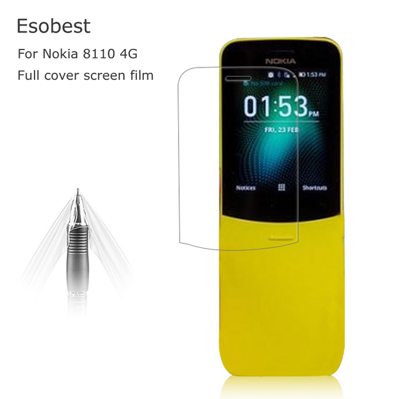 Esobest 2pcs 3D soft TPU Full Coverage clear screen Film for Nokia 8110 4G Screen Protector LCD screen guard ( not glass )