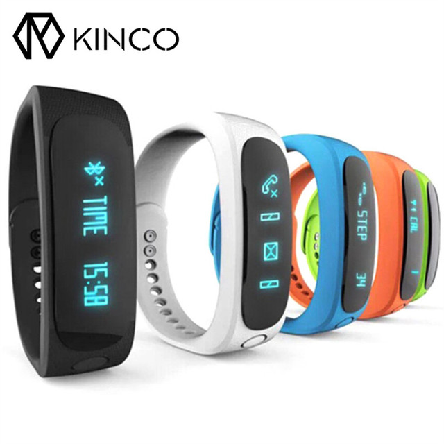 Kinco Bluetooth Tracks Steps Waterproof Sleep Quality Monitor Smart Wristband Calorie Consumption Fitness Sports Bracelet