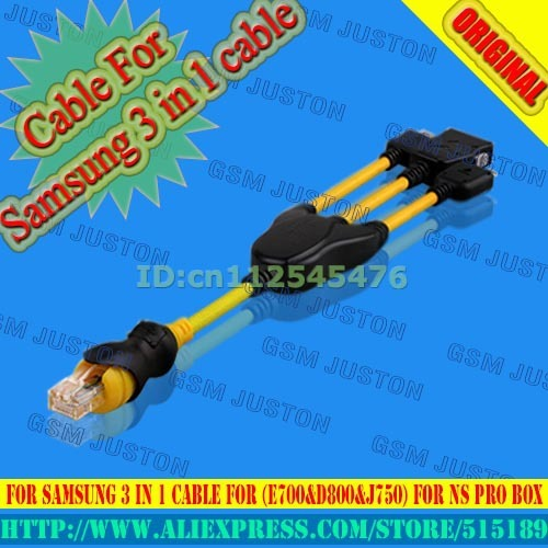 Cable For  Samsung 3 in 1 cable For (E700&D800&J750) For NS Pro box  Free shipping