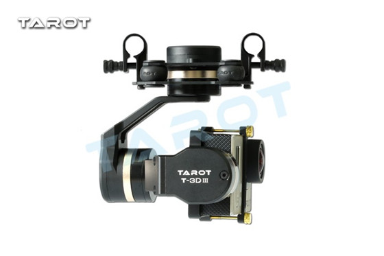 Tarot GOPRO 3D Metal 3 Axis Brushless Gimbal TL3T01 For Gopro 4/3+/3 Tarot 3D Gimbal Free Shipping with tracking tarot gopro 3dⅢ metal cnc 3 axis brushless gimbal ptz for gopro 4 3 3 fpv quadcopter tl3t01