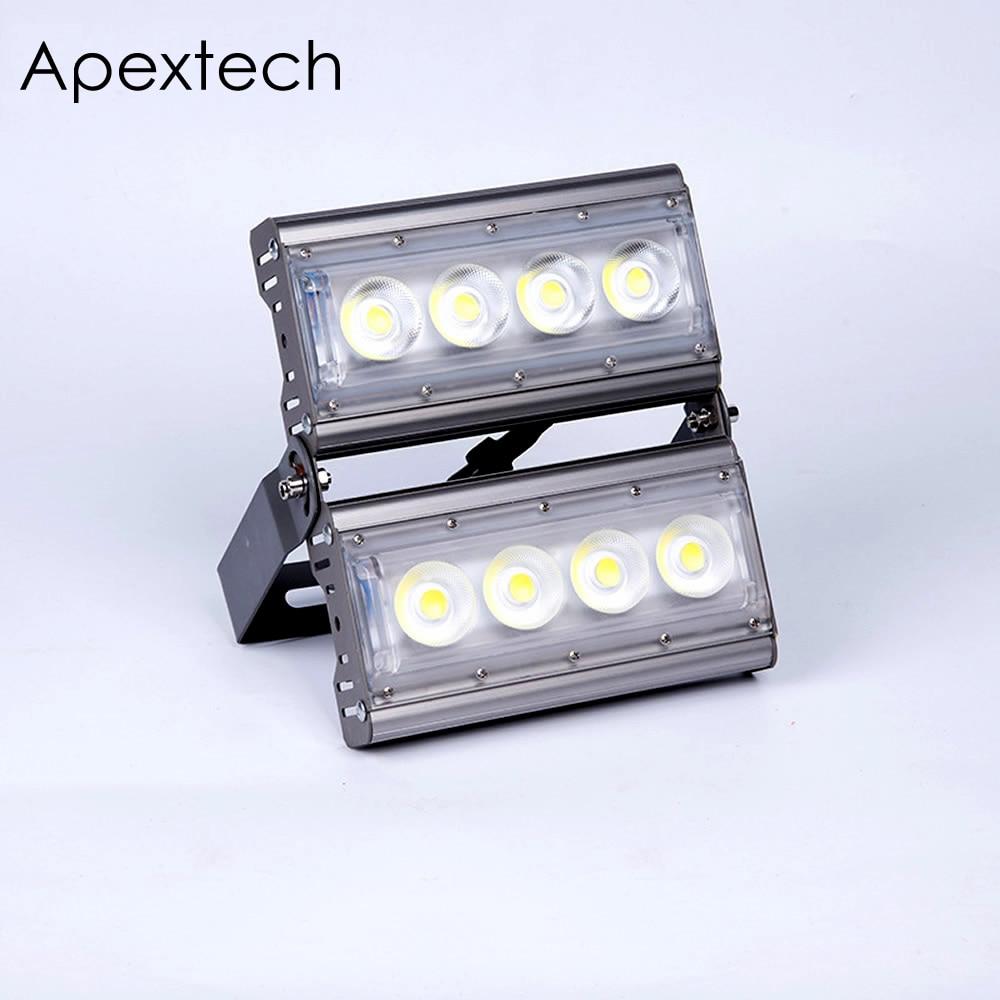 Apextech Modules LED Projector Floodlight 50W 100W 150W 200W COB Flood Light IP65 AC85-265V outdoor wall wash lighting lamp
