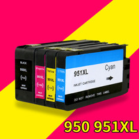 4 Pack Ink Cartridge For HP 950XL 951XL Compatible With HP Officejet Pro 8100 8610 8620