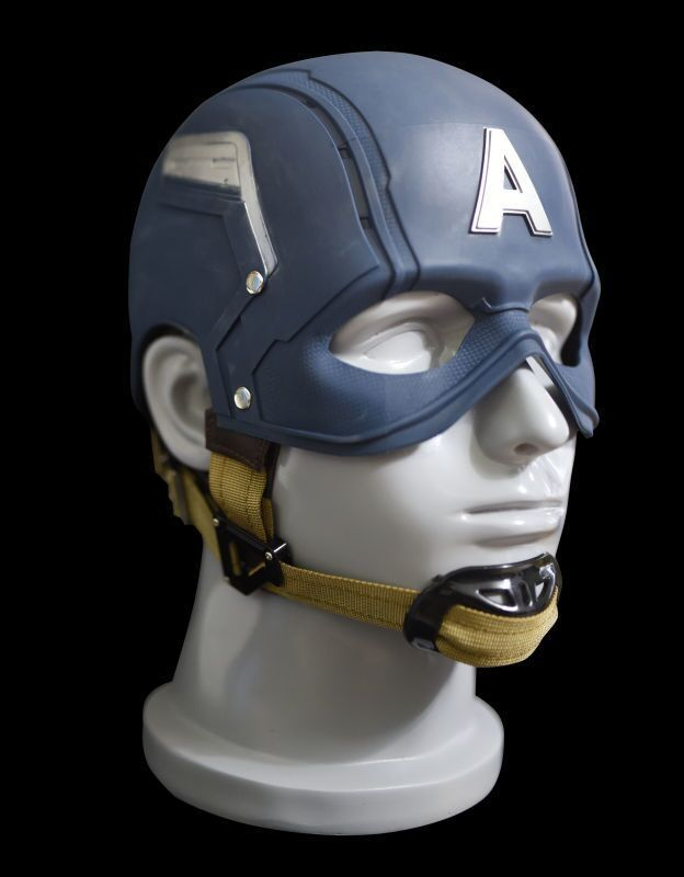 Free Shipping 1:1 The Avengers Full Scale Captain America Steve Rogers Helmet Mask 1/1 Replica Custom Cosplay Prop 2016 movie cosplay captain america civil war helmet cosplay black panther helmet t challa helmet mask party halloween prop