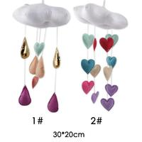 HOT Cloud Love Ornaments Children'S Room Campanula Bedclothes Accessories Pure Hand-Mural Baby Room Decoration Hanging A30