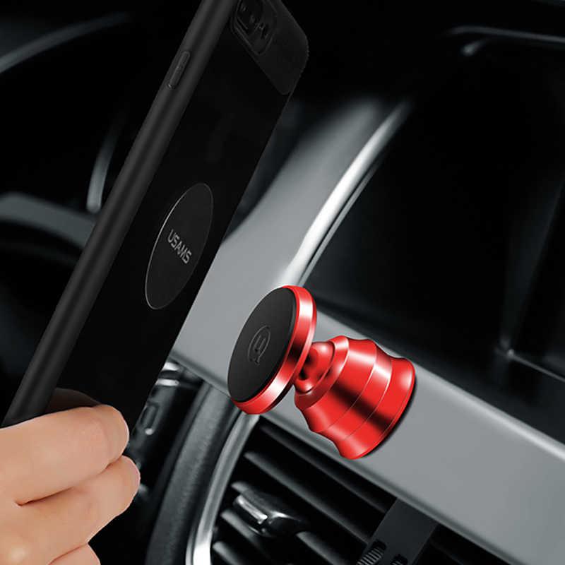 Suporte para Carro Magnética para o iphone X Suporte Universal USAMS Air Vent Mount Magnet Suporte para Smartphone Suporte do telefone no Carro titular
