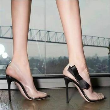 d19521e8 Big Tree mujer bombas de 10,5 CM de tacón alto de cuero de boca baja sexy  del dedo del pie puntiagudo zapatos de mujer Zapatos