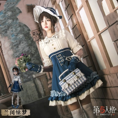Game Identity V Emma Woods Full Set Cosplay Costume Outfits Harajuku Costumes Halloween Party Women Lolita Cosplay Uniform