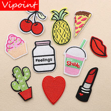 VIPOINT embroidery beverages fruits patches foods badges applique for clothing XW-30