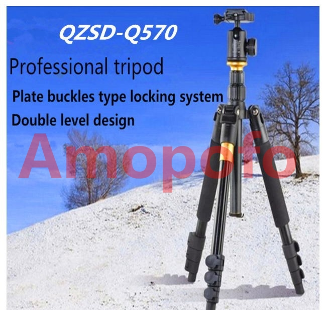 Amopofo DHL shipping Q570 Super Portable Photo Tripod & Monopod Q-570 For DSLR Camera and Gopro Max load to 15kg