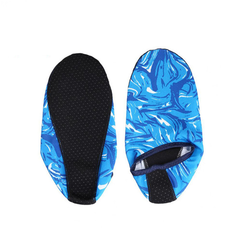 1 Pair Summer Water Sports Camouflage Diving Socks Swimming Snorkeling Non-slip Seaside Beach Shoes For Adult Child Beach Socks