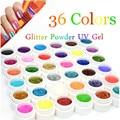 36 Colors Sequins Glitter LED UV Nail Gel Long Lasting UV Gel Lacquer DIY Nail Art Colorful Nail Gel UV Gel UV LED Lamp Curing