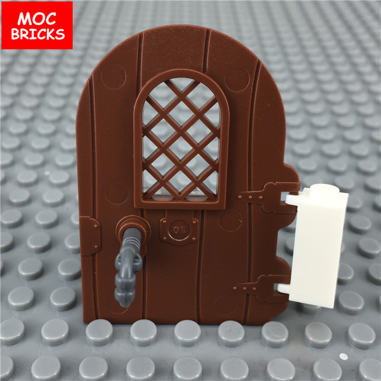 10 Lego White Arch Pieces Round Top
