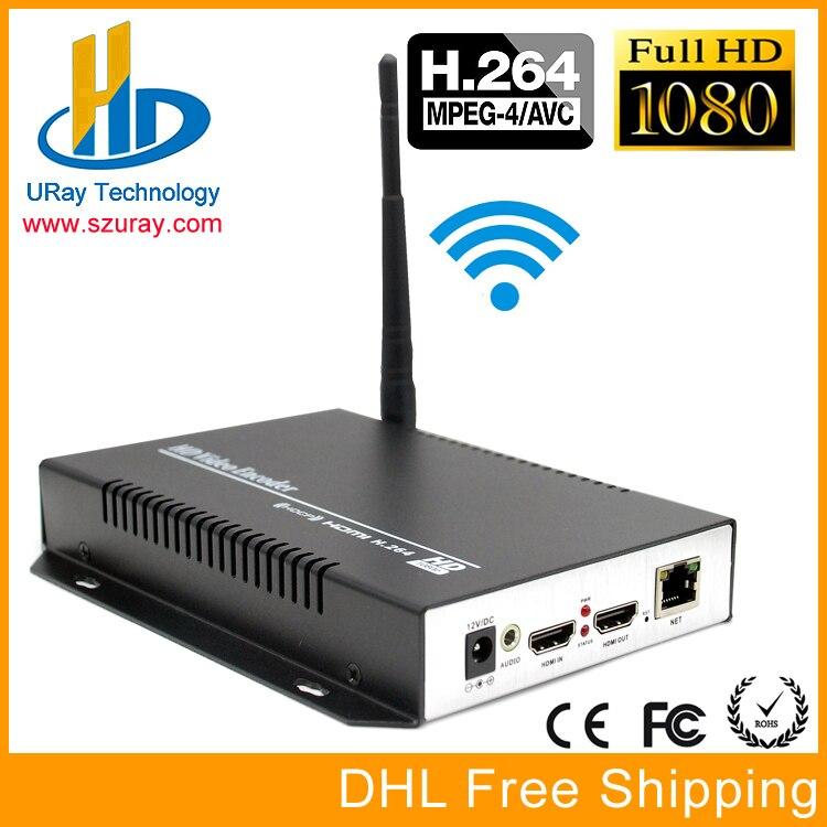 DHL Livraison Gratuite MPEG4 H264 HDMI Audio Vidéo Sans Fil RTSP RTMP Streaming Encodeur H.264 HD Vidéo À Flux IP Encodeur IPTV