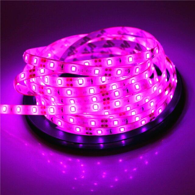 2835 SMD led strip light DC12V 5M 300LEDs flexible ribbon tape lighting White Warm white Red Green Blue Yellow Pink RGB