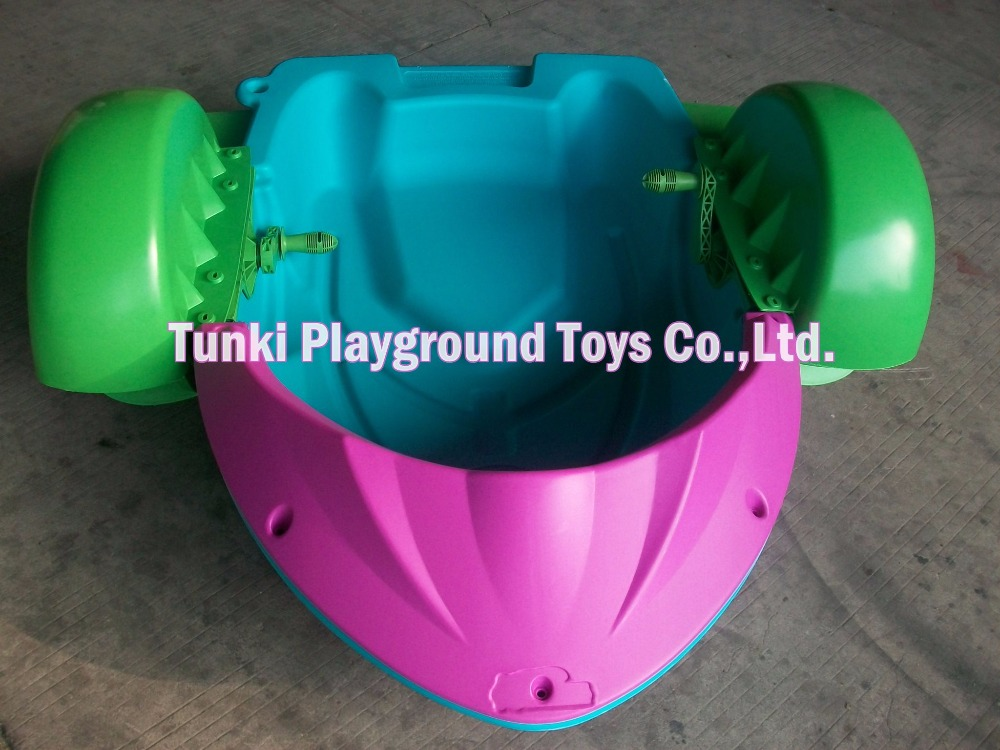 все цены на Best popular water park amuzement kids plastic hand paddle boat pedal boat for sale