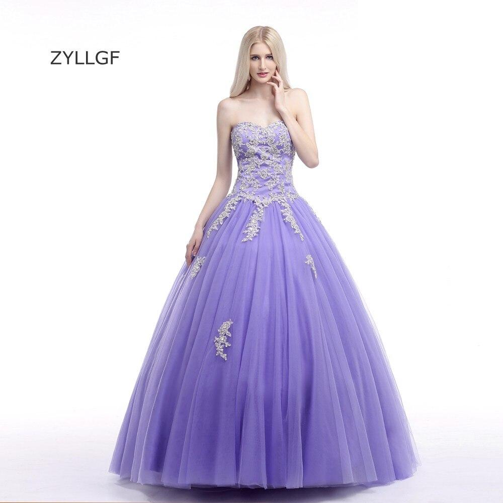 Zyllgf Vestidos Quinceaneras baratos бальное платье Милая декольте бисера тюль сладкий 16 платья с аппликациями Q223