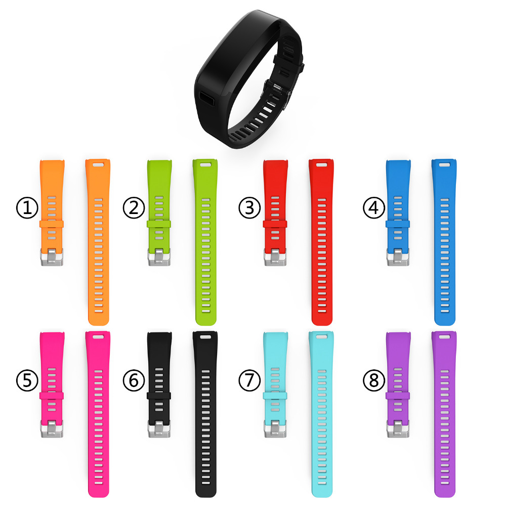 Fashion Sports Silicone Watchbands for garmin Strap Bracelet Replacement Wristband Smart Accessory for garmin VIVO Smart HR Band 13