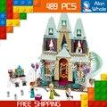 489 unids sy371 celebración ladrillos de construcción, bloques de serie de la princesa castillo de arendelle chicas amigos juguetes compatibles con lego