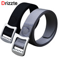 Drizzte Men's Plus Size 130 150cm Belts Alloy Metal Buckle Free Adjust Woven Nylon Dress Casual Fashion Mens Waitband Strap