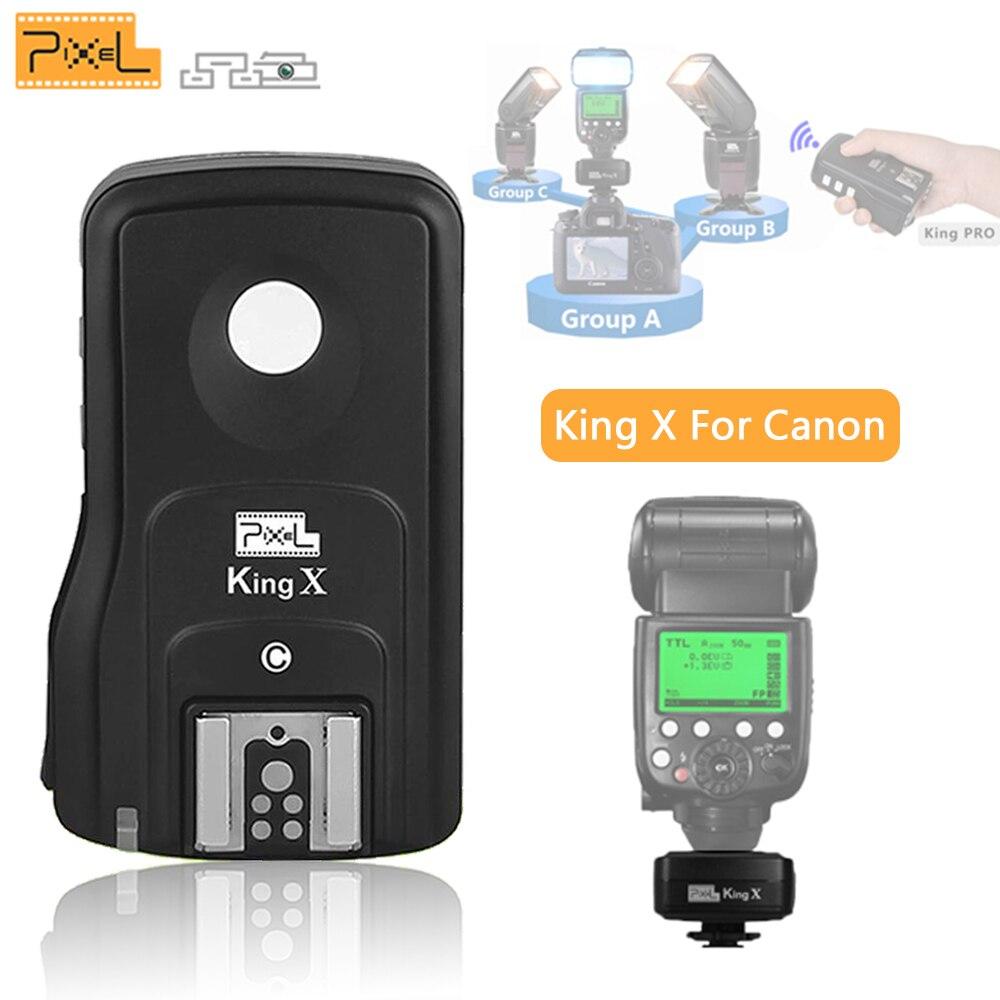 Pixel King X Receive E TTL Wireless Flash Trigger High Sync Speed 1/8000 King Pro For Canon 1100D 1000D 650D 600D 450D 500D DSLR