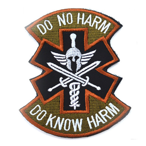 Geen Kwaad Spartan Acu Tactische Combat Medic Badge Moreel Militaire