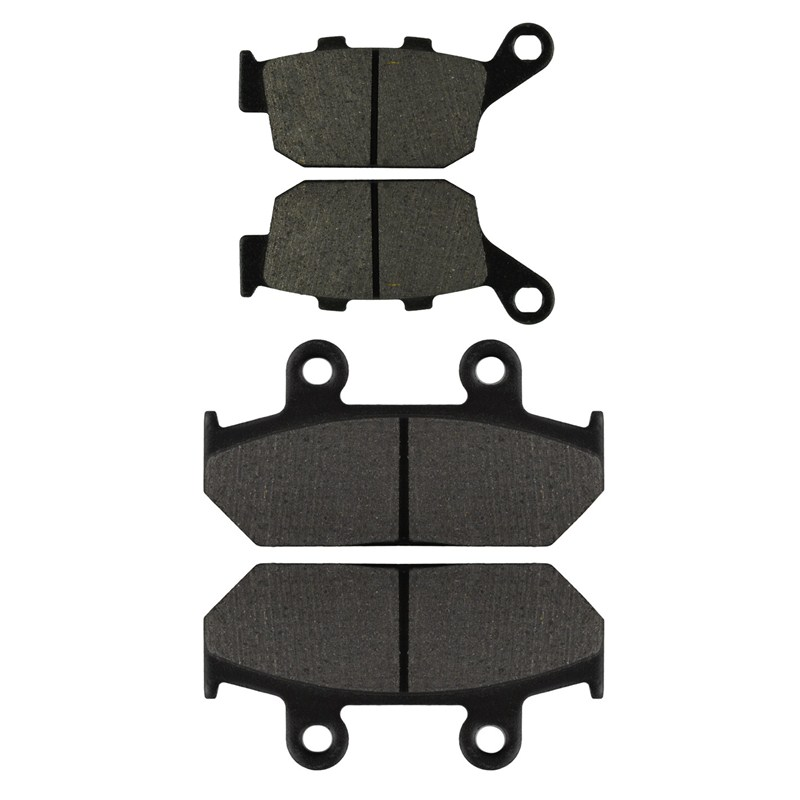 Motorcycle Front and Rear Brake Pads for HONDA NX 500 NX500 NX650 N/P/R/S/T Dominator 1992-1996 Black Brake Disc Pad economic bicycle brake pads black 4 pcs