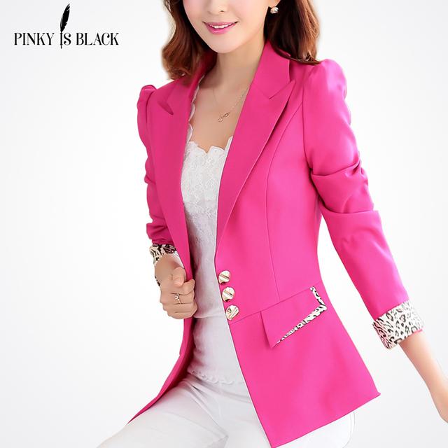 2016 nova primavera chegada mulheres blazer casaco fino leopardo impressão feminino casual blazer terno curto jaqueta plus size mulheres roupas