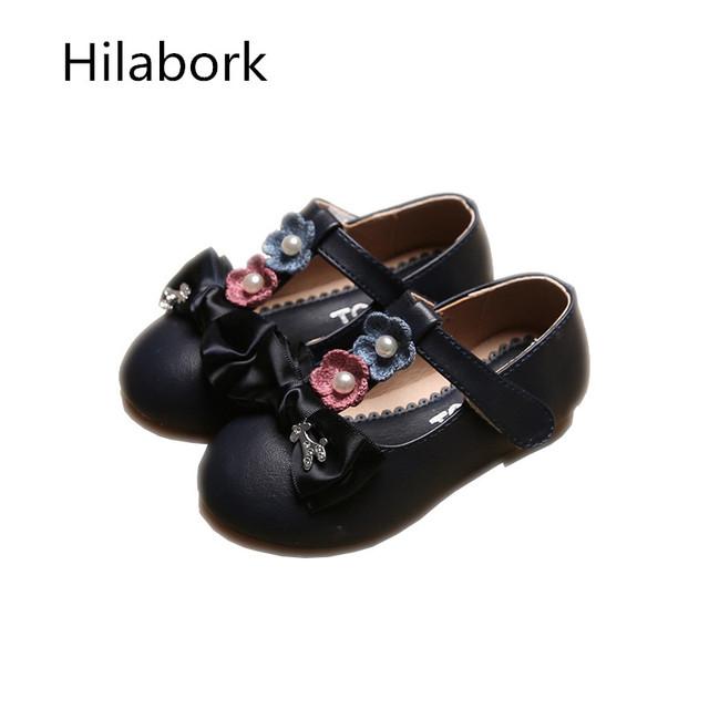 2017 nova primavera arco de couro shoes casual shoes meninas bonitas das crianças flores princesa shoes fundo macio das crianças shoes