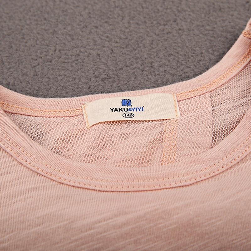 465f637d3d81 YKYY YAKUYIYI Bird Print Girls T shirt Light Pink Split Back Baby ...