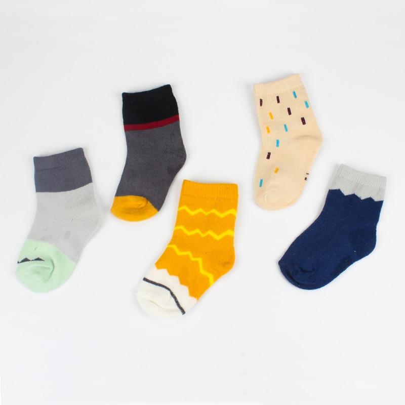 5 Pairs 95% Cotton Cute Baby Socks Set 2-10 Years Child Floor Short Socks Infant Toddler Boys Girls Meias Kids Calcetines