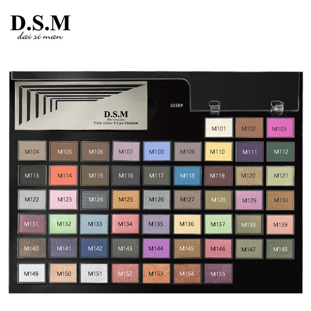 D.S.M Brand New DIY Eye Shadow Replaceable Combined 4 Perfect Shades Palettes Matte Glitter Colorful Makeup Eyeshadow Palettes 3