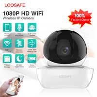 LOOSAFE indoor Sicherheit 1080p ip kamera Drahtlose Überwachungs Kamera Vision P2P IR Automatische track CCTV Kamera
