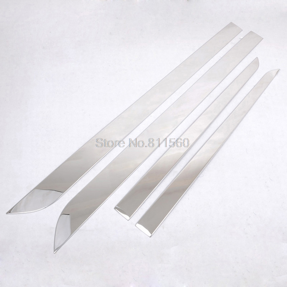 For RENAULT KOLEOS 2008 2009 2010 2011 2012 Stainless Steel Side Door Body Molding Streamer Cover Trim Body Strip Decoration for kia carens 2013 stainless steel window middle center pillar trim side door body molding streamer cover strip auto model