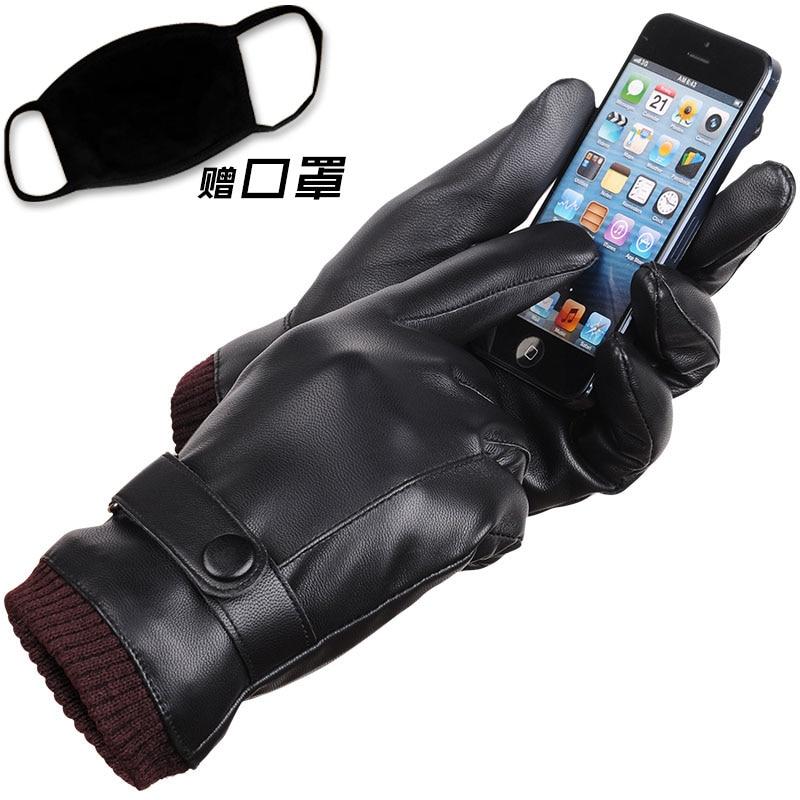 Guantes masculinos de cuero genuino Guantes de invierno de la - Accesorios para la ropa