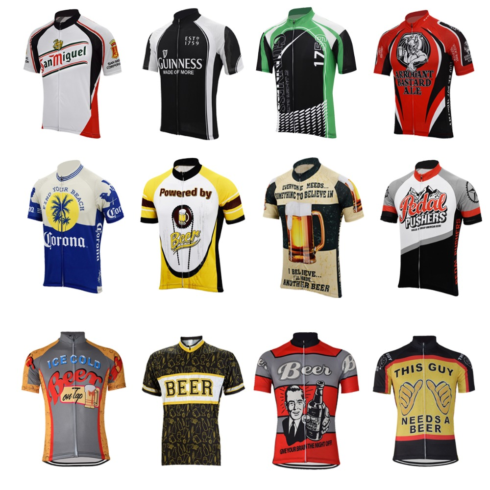 17 Beer Cycling Jersey Retro Summer Short Sleeve Bike Wear Red White Pink Black  Jersey Road Jersey Cycling Clothing Braetan