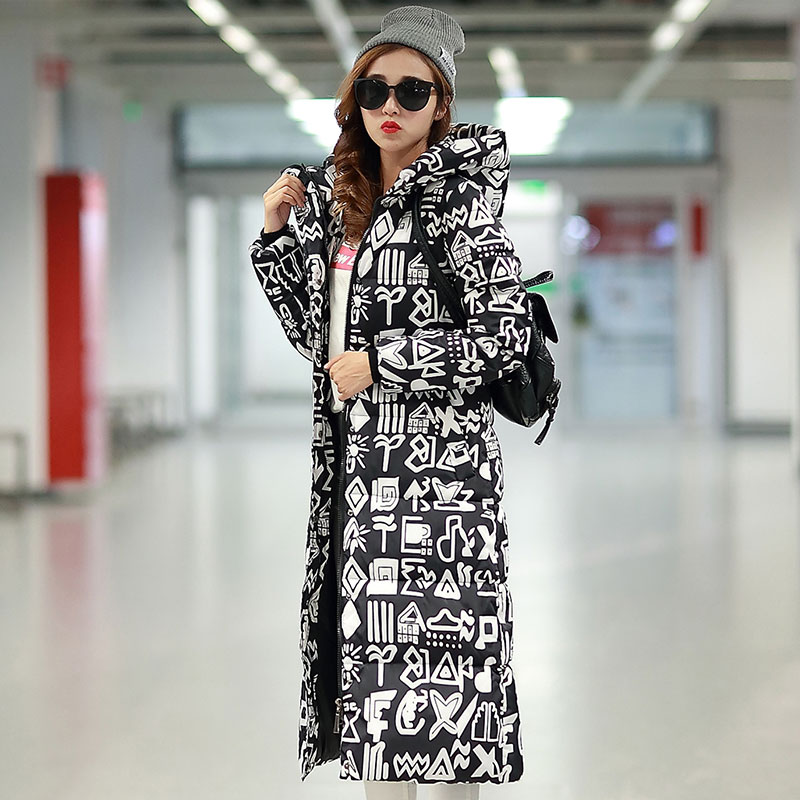 2017 Free Shipping New Autumn Winter Coat Design Padded Down Cotton Plus Size Slim Jacket Hooded Zipper Women Fashion