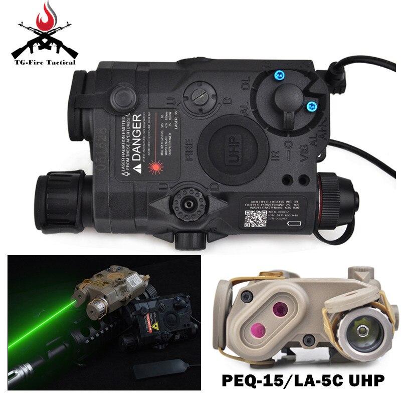 Élément Softair un PEQ-15/LA-5C UHP lampe de poche arme tactique Surefir vert Lasar avec LED IR vert lasé PEQ15 feu de surface
