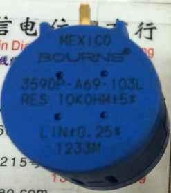 1 шт./партия оригинальный бурнс 3590P A69 103L 10 K 10 поворотов многовитковый потенциометр с ручкой