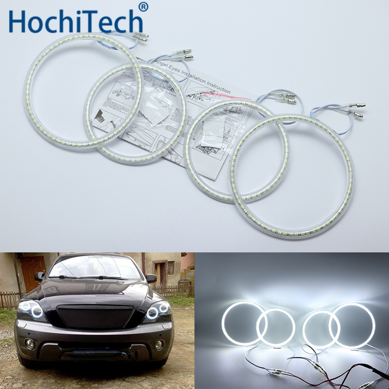 Ultra Bright SMD White LED Angel Eyes Halo Ring Kit Daytime Running Light DRL For Kia Sorento 2006 2007 2008 2009